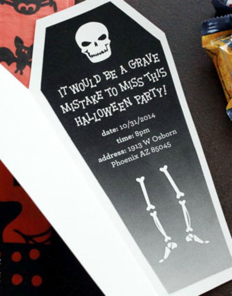 Halloween Coffin Invitations Instructions | Recipe | Card stock ...