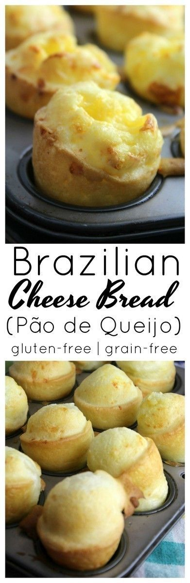 Brazilian Cheese Bread (also known as Pao de Quiejo) are beautiful cheesy puffs of yumminess that are gluten-free and easy to make with simple ingredients!
