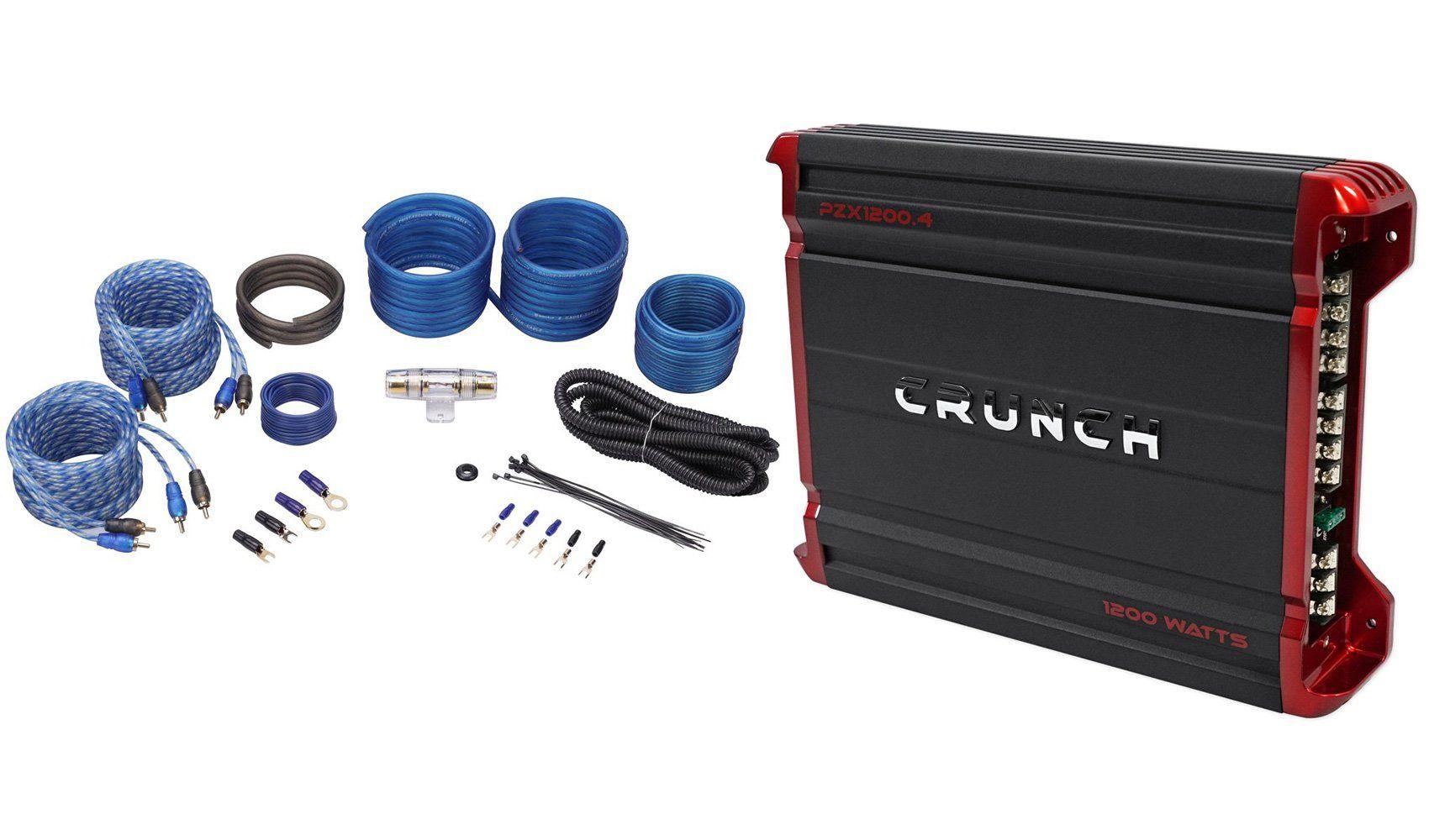 Package: Crunch PZX1200.4 1200 Watt 4 Channel Powerful Car Audio ...
