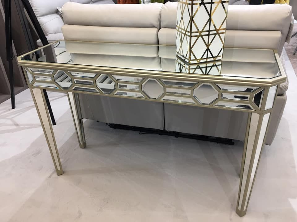 Photo of Rosa Mirrored  Glass Gold Console Table