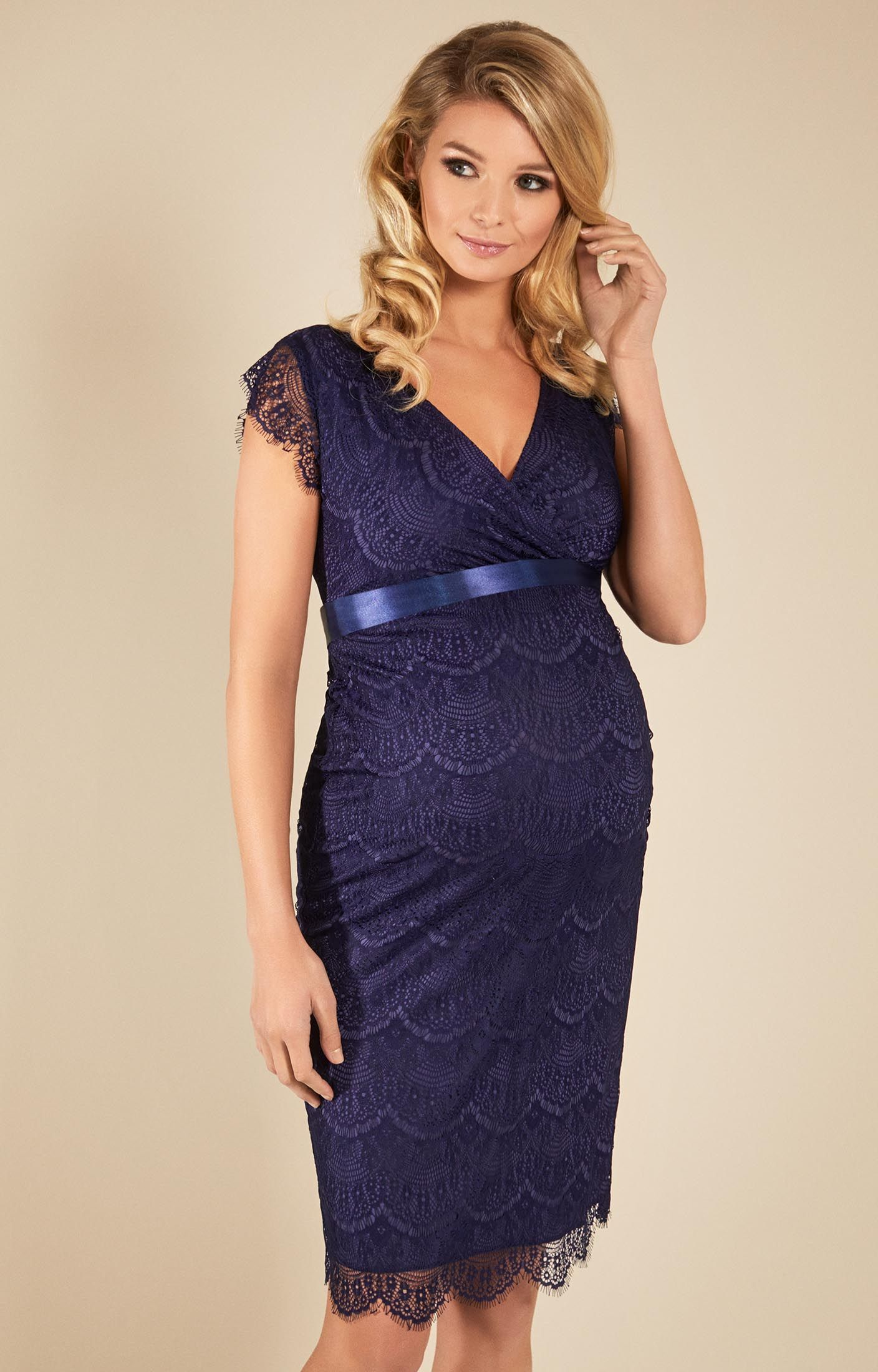 280452fca73e2 Sophisticated, stylish and sexy in equal measure, our vintage inspired  maternity dress is something of an icon, now in a new blue hue.