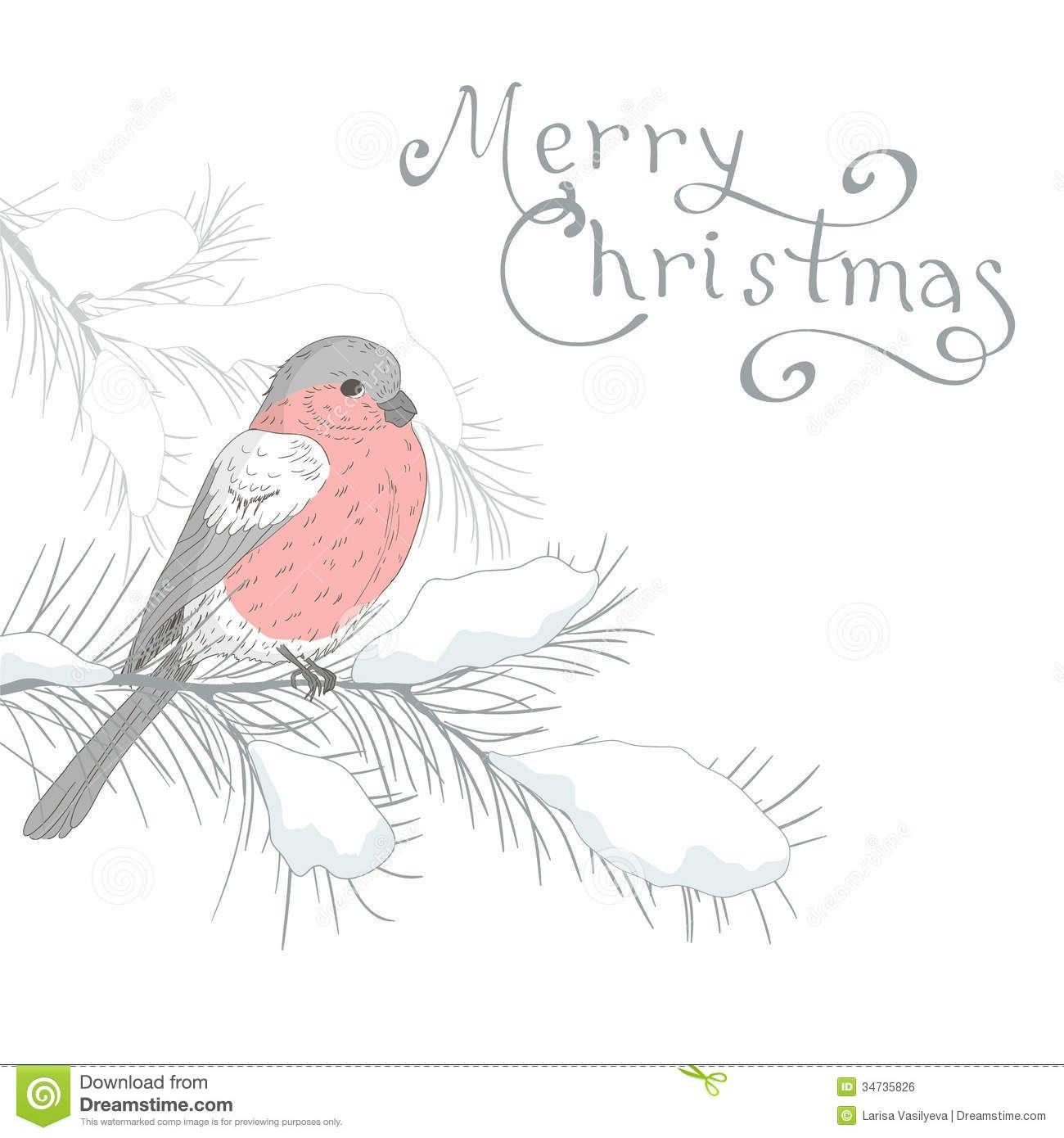 Greetingcardbirdchristmashanddrawbackgroundholidaywinter