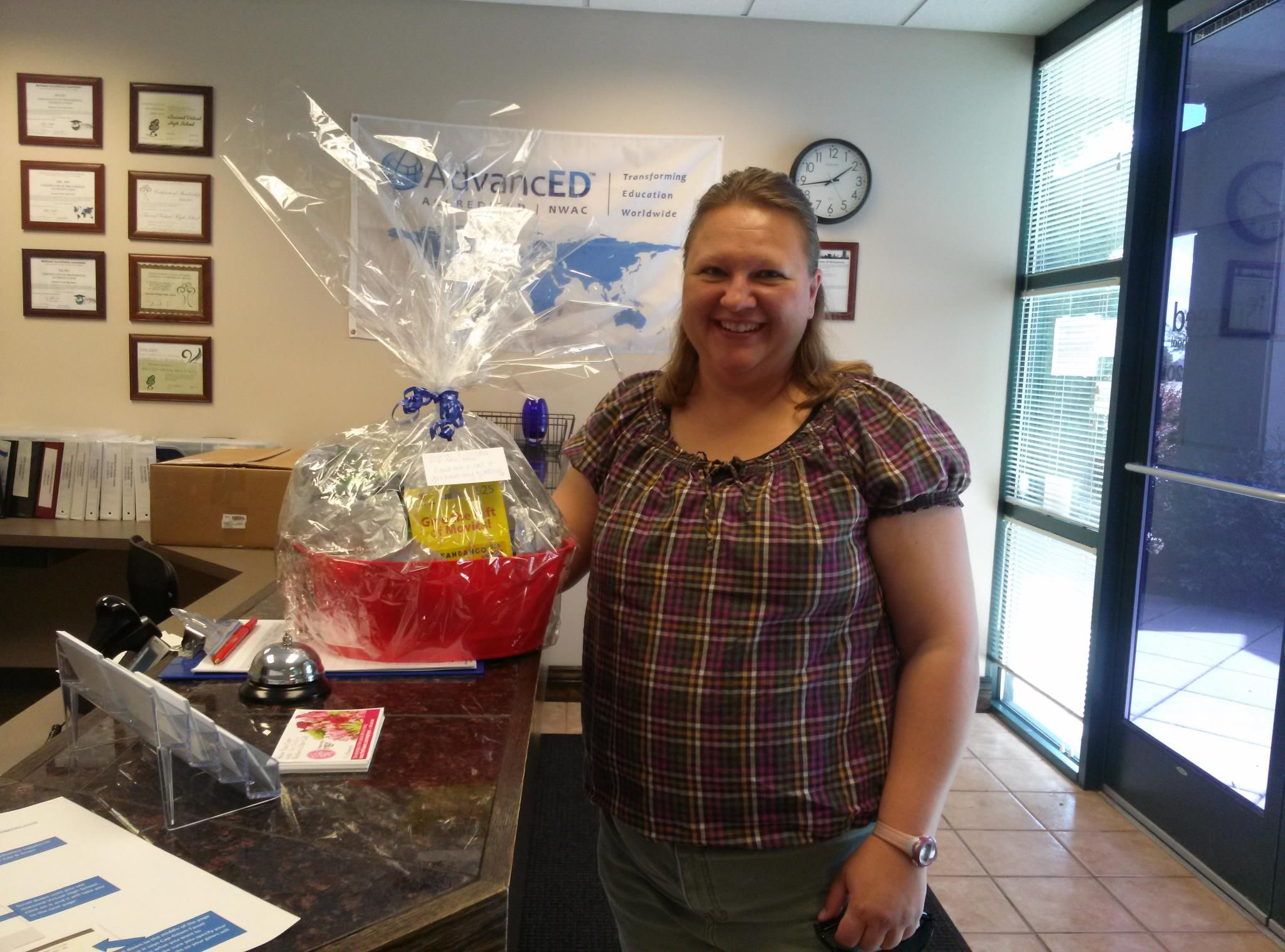 Congratulations Laurie, winner of our Movie Gift Basket at the Boys & Girls Club's Free Community Day!