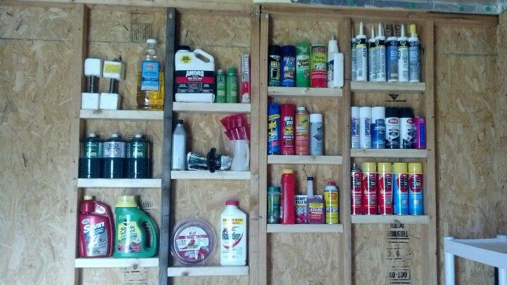 Simple Cheap Shelves For Your Unfinished Garage Or Shop Just Cut A Standard 2x4 To Length And Nail Screw Them In Place Use 2x6 Wider Larger Items