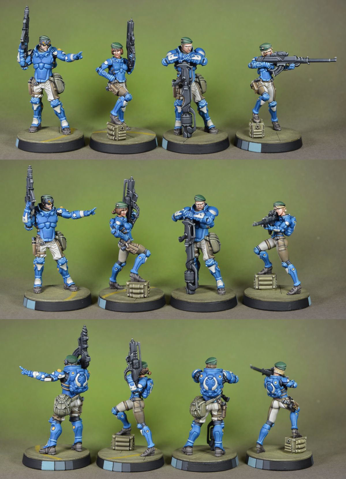 Infinity Pan Oceania troops Miniature wargaming