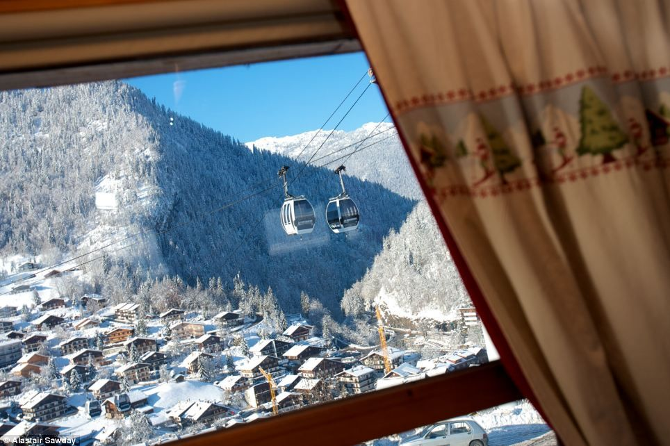 Sky high: People spend thousands of pounds every year travelling to the French Alps for a week or two of skiing