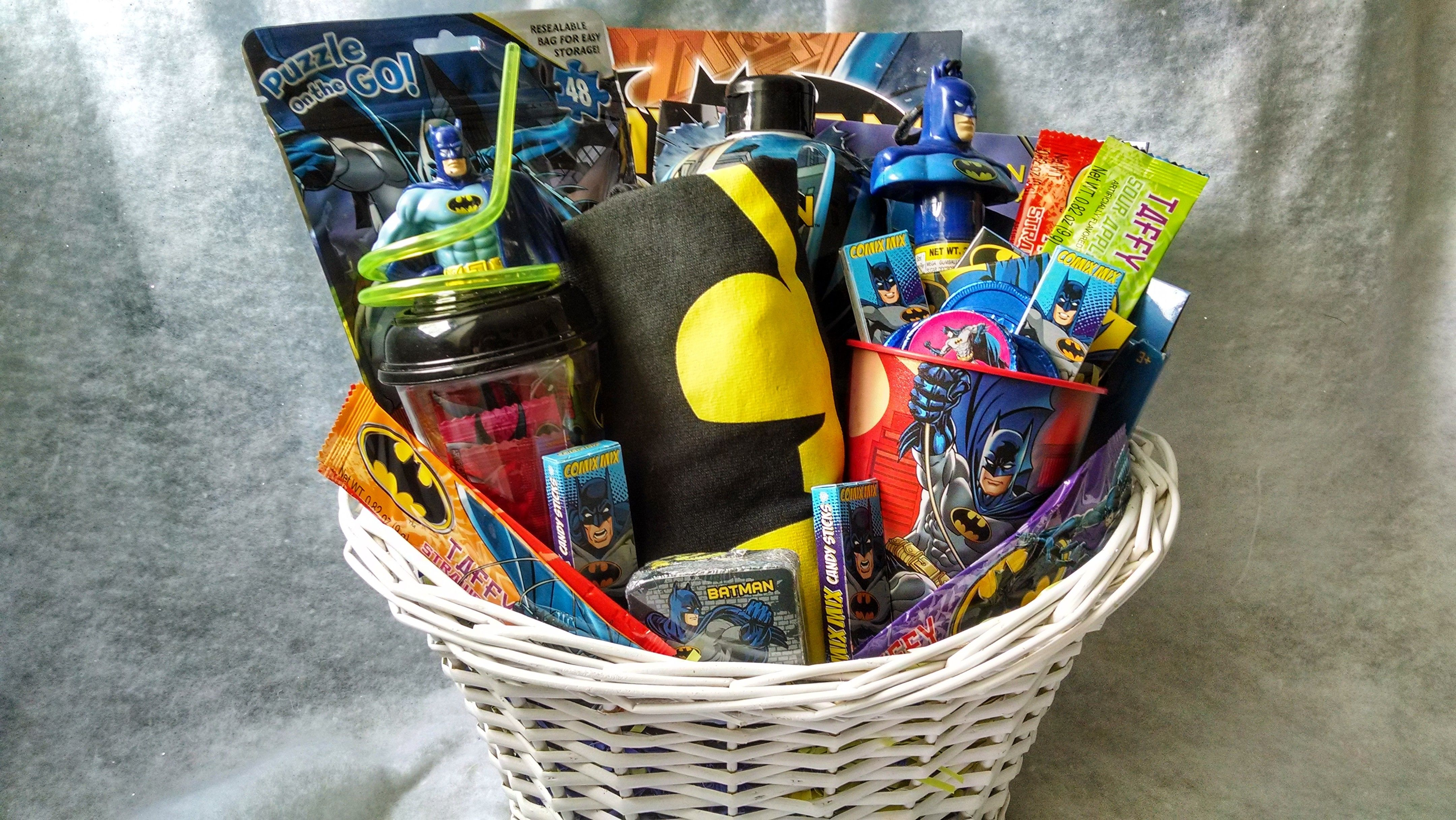 Batman gift basket from connies creations batman gifts