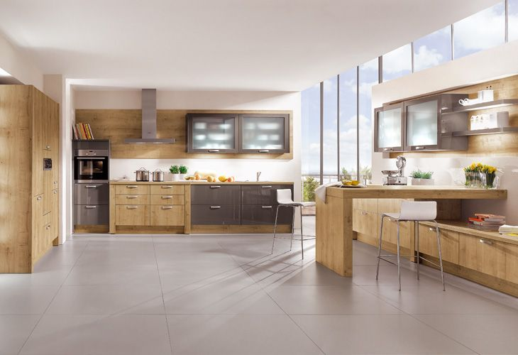 Küche in Grau #Offeneküche wwwdyk360-kuechende Graue Küchen - bilder offene küche