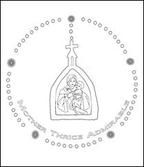 childrens rosary coloring pages | Schoenstatt Rosary-colorpage1 | Catholic kids, Sunday ...