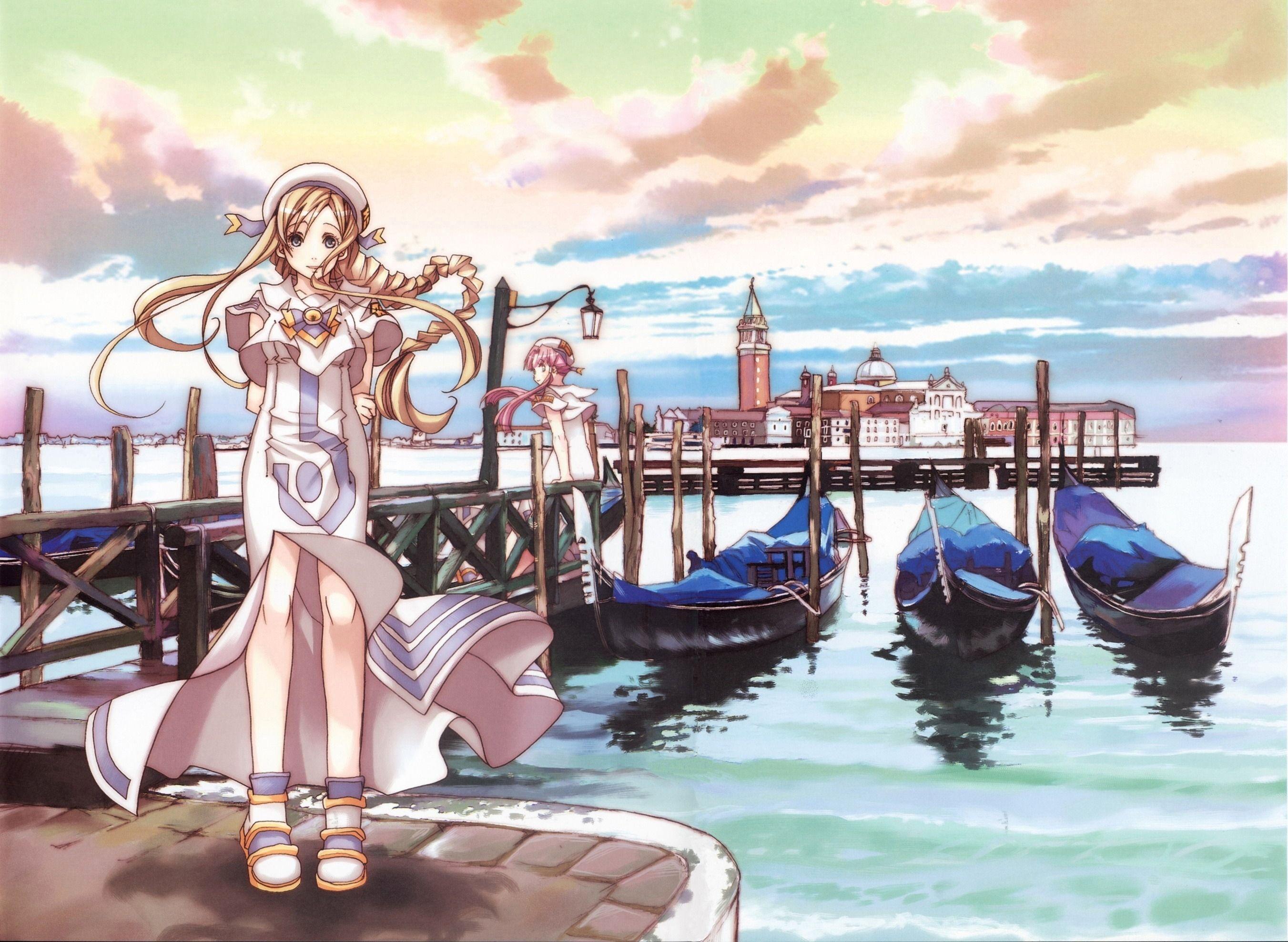 Alicia Amp Akari Aria アニメ イタリア ベネチア 可愛い女の子 イラスト