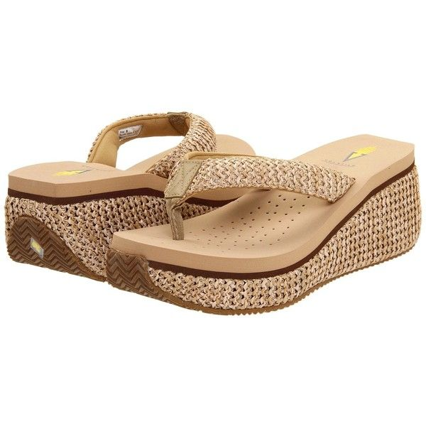 VOLATILE Island (Natural) Women's Wedge Shoes ($50) ❤ liked on Polyvore  featuring