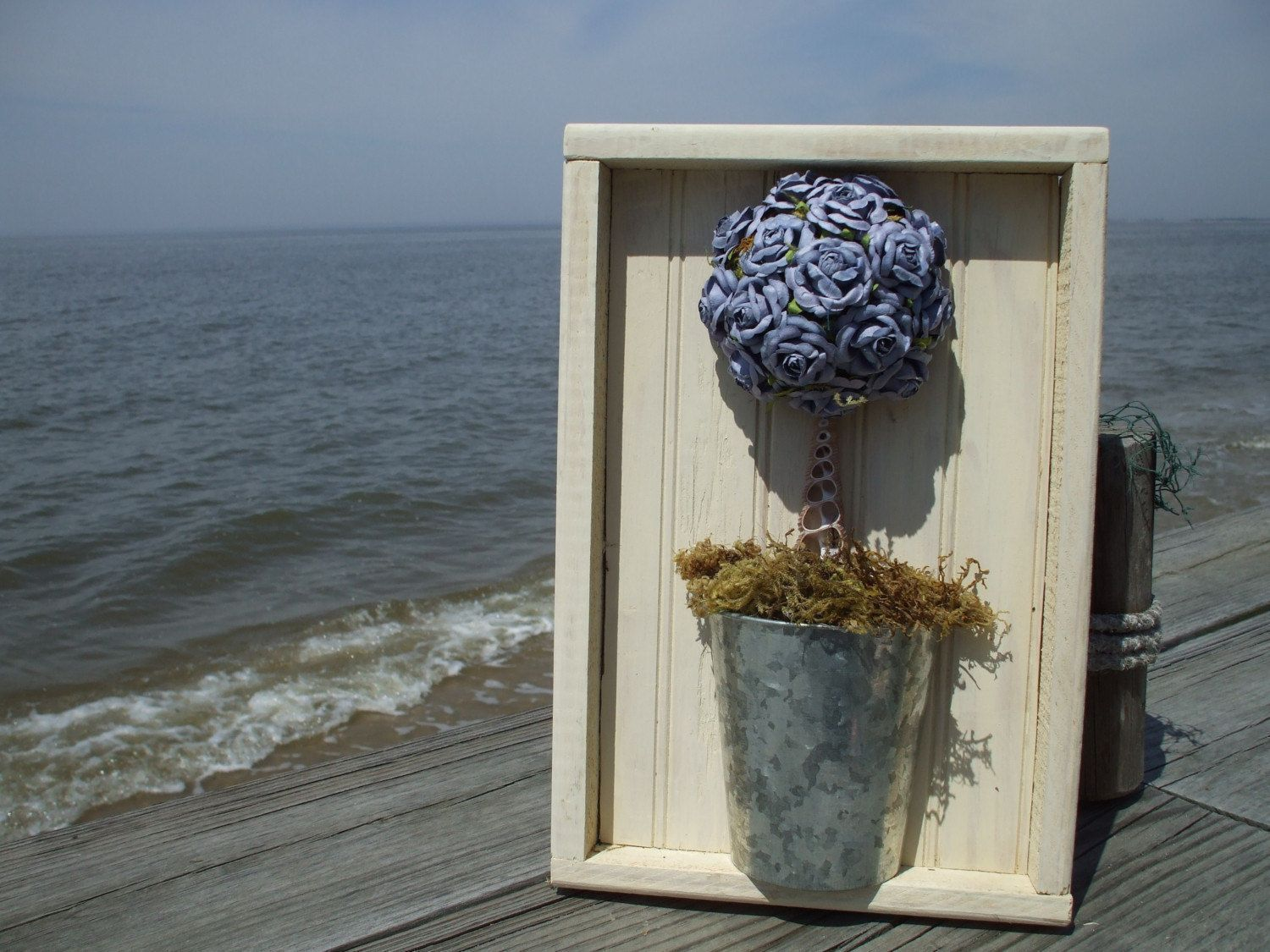 Periwinkle Dream Shadowbox Mulberry Paper Topiary