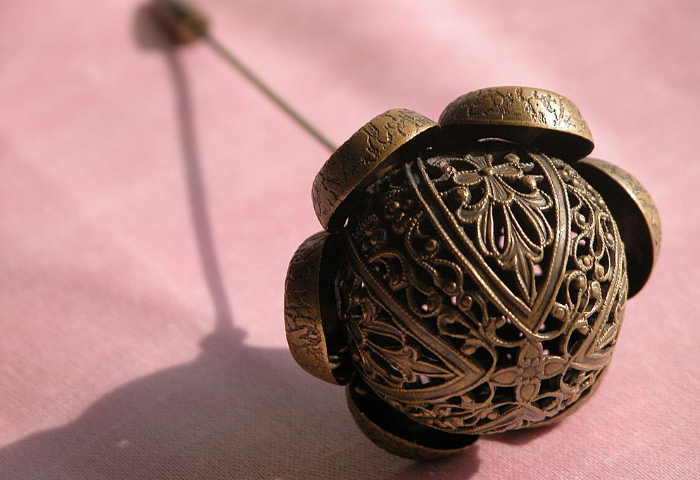 Victorian Hat Pin Metal Filigree With Tip Protector Victorian Hats Antique Hats Hat Pins