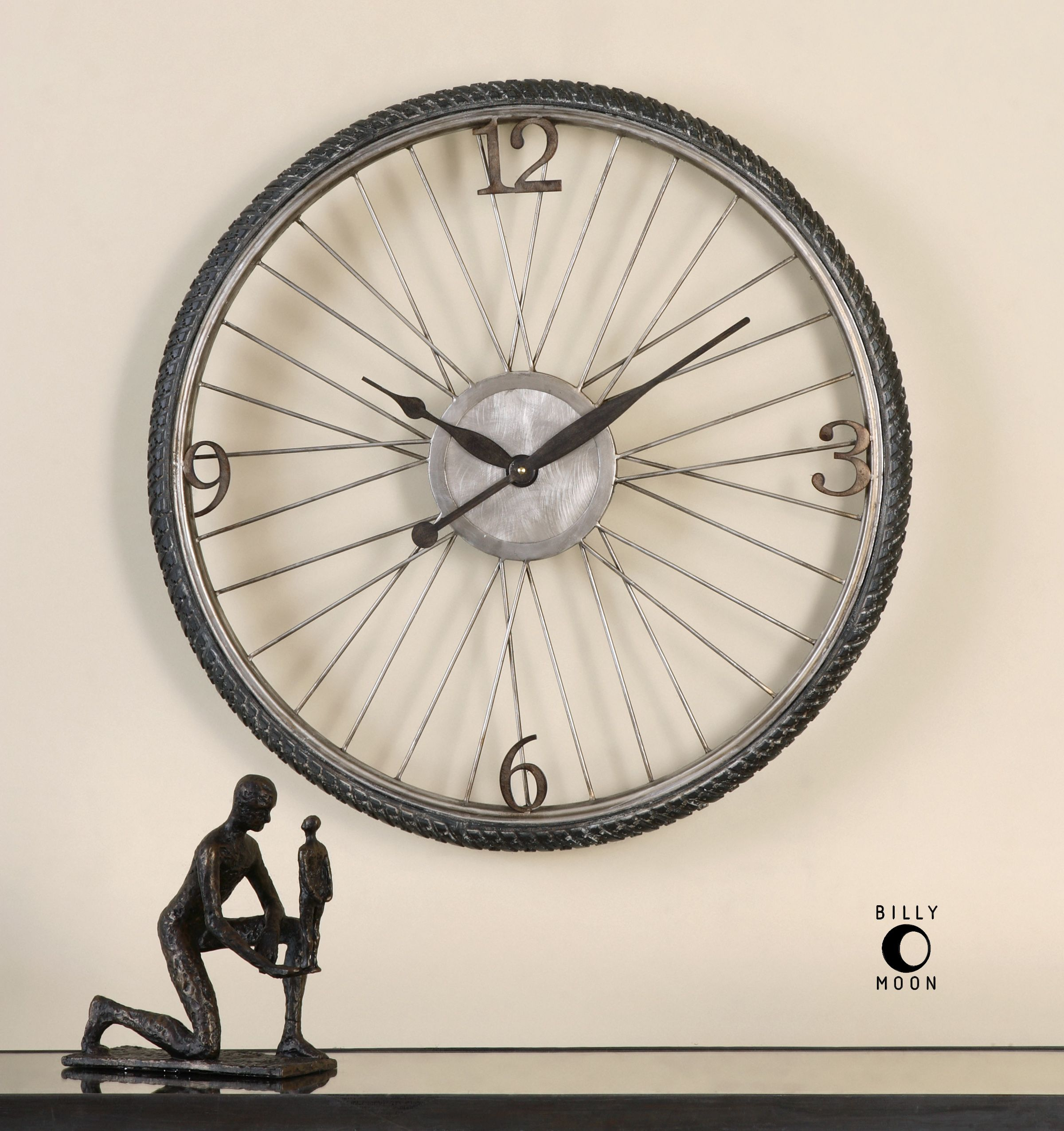 Uttermost spokes aged wall clock highlands pinterest wall uttermost spokes aged wall clock amipublicfo Image collections