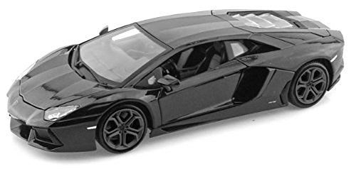 "Lamborghini Matt Black Aventador LP 700-4 1:38 5"" Pull Back Diecast Car - Diecast Model Cars"