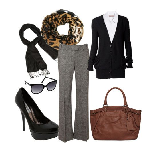A little animal print will always bring style to any neutral outfit.