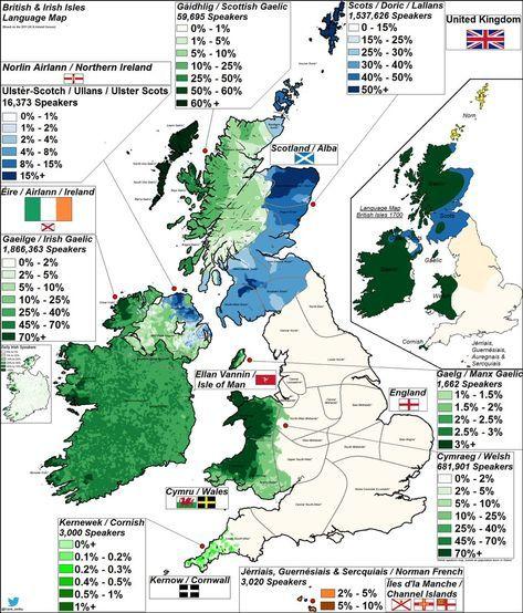 Languages Of The British Isles Geografi Oer Kort