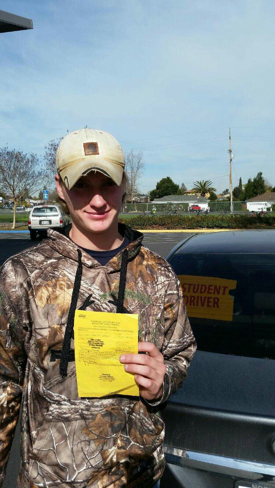 Our Student Who Just Completed Their 6 Hour Behind The Wheel Training Course With Instructor