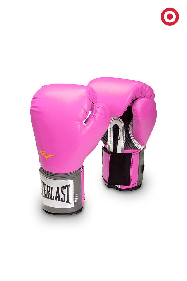 Add some punch to your training routine with a pair of Everlast Boxing Gloves. Perfect for kickboxing, martial arts and fitness training. Fits all sizes. And, who doesn't love pink?