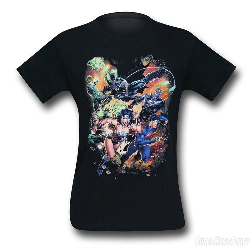 Justice League Battle Ready T-Shirt DC Comics