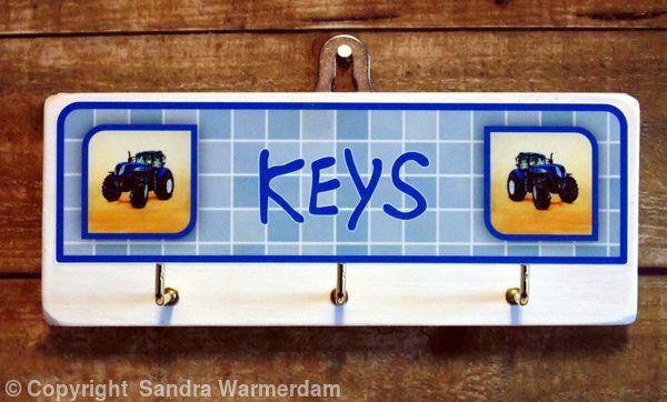 Handmade Key Hook, New Holland - Handmade Wooden Key Hook