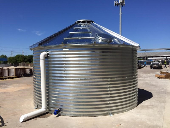 Rainflo 1500 Gallon Corrugated Steel Tank Rainwater Harvesting Package Rainwater Collection And Stormwater Management In 2020 Rainwater Harvesting Steel Water Tanks Rain Water Collection