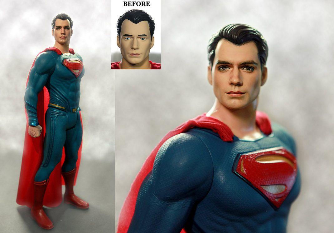 Henry Cavill Superman custom doll / figure repaint by noeling on DeviantArt