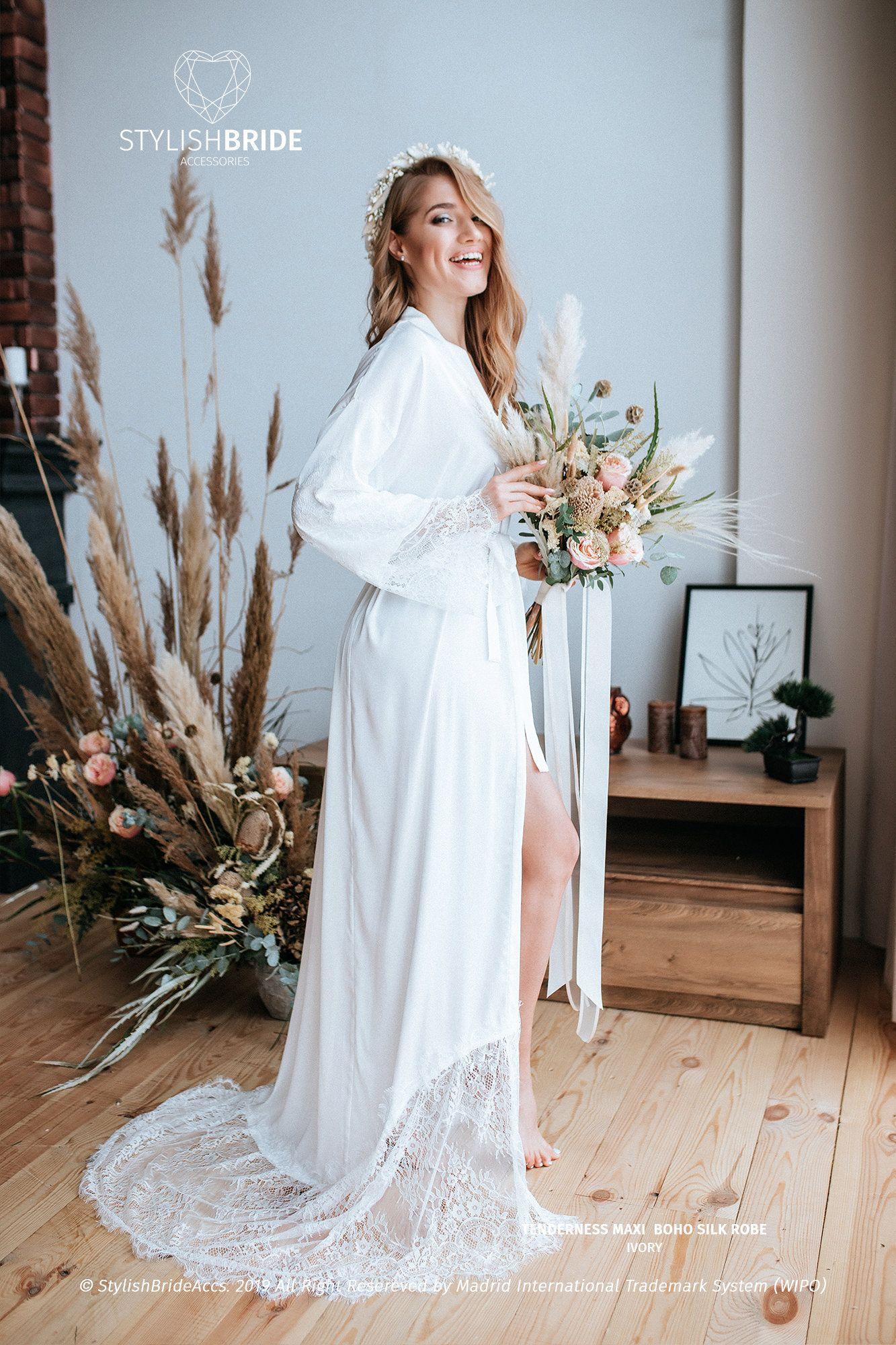 silk HANDMADE robe lace SILK Robe
