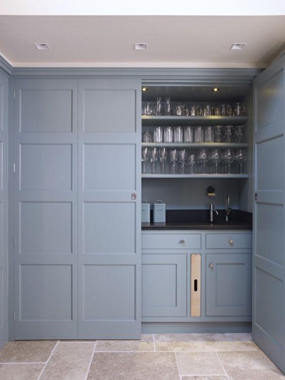 Secret Drawer drinks bar hideaway.   Handmade kitchen ...