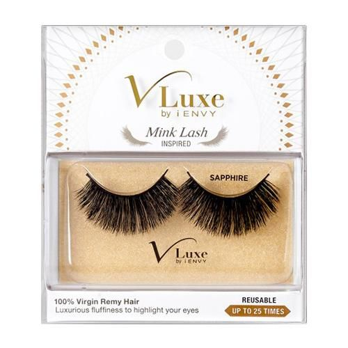 9557d400059 V-LUXE I ENVY - VLEF04 SAPPHIRE - MINK LASH INSPIRED 100% VIRGIN REMY  TAPERED END STRIP EYELASHES BY KISS