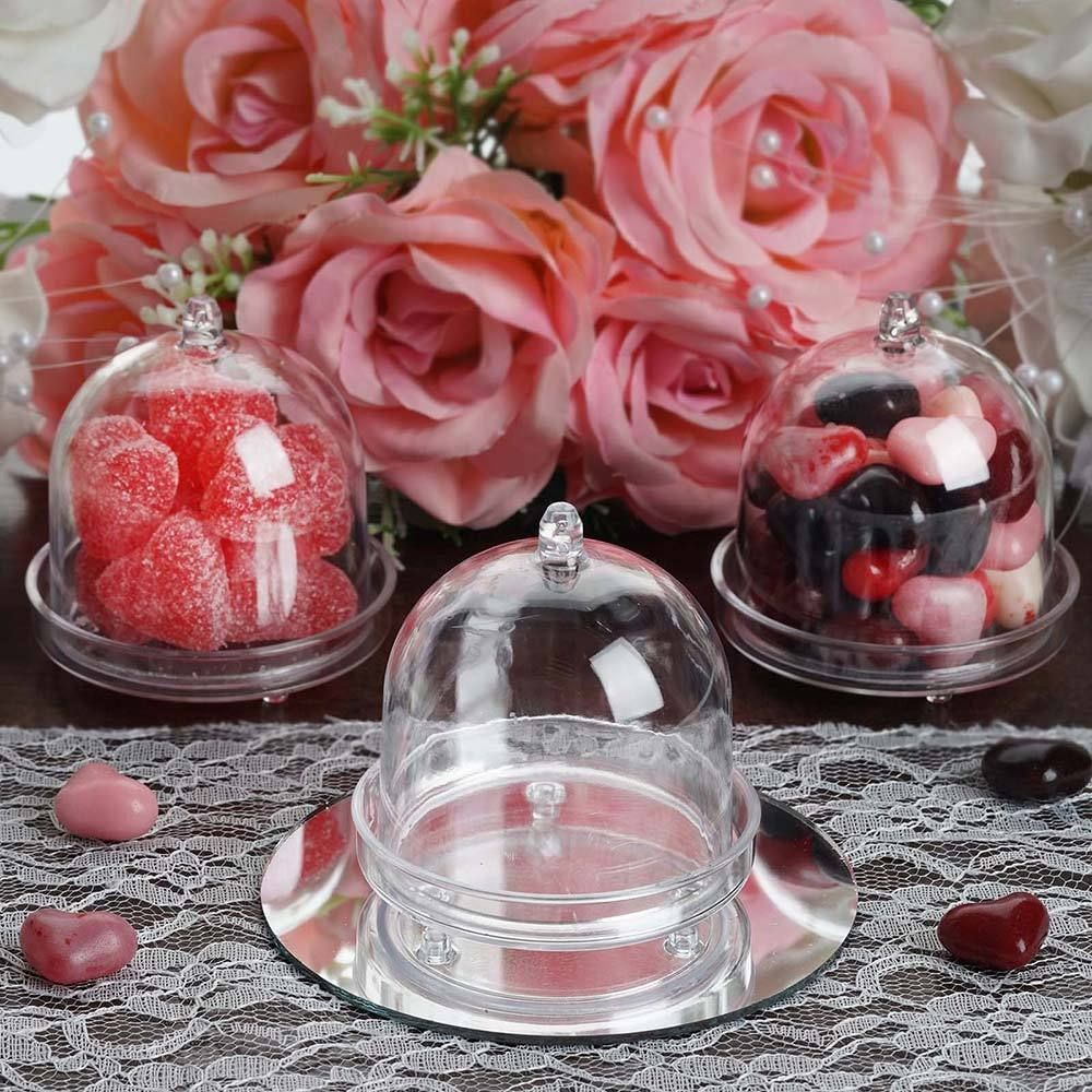 12 pack mini clear plastic cupcake muffin cake container