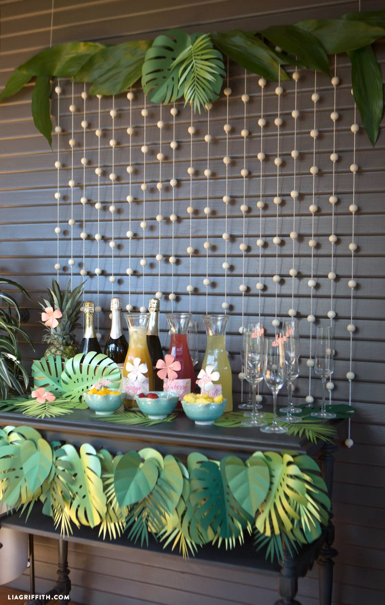 Life's a Beach: Drink Up with a DIY Tropical Bridal Shower Mimosa Bar!