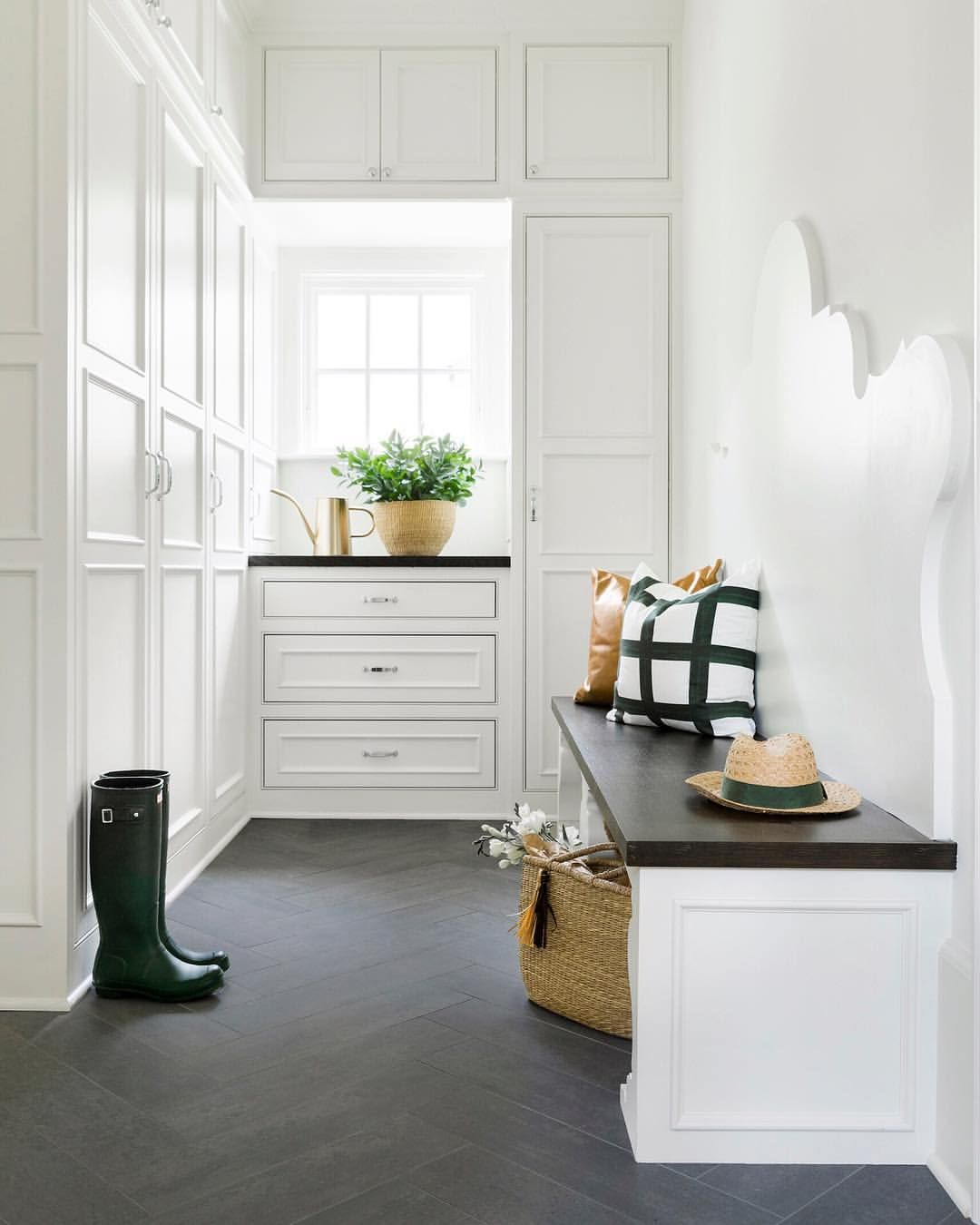 Small hallway furniture  Beautiful details in an understated spacedroom by Bria Hammel