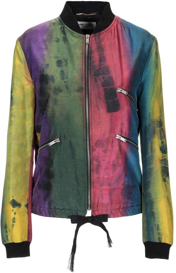 6f7c750c9 Saint Laurent Jackets | Products | Silk bomber jacket, Bomber jacket ...