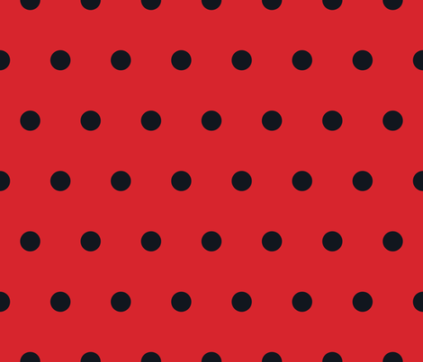 Colorful Fabrics Digitally Printed By Spoonflower Polka Dot Black On Red Polka Dots Wallpaper Dots Wallpaper Fabric