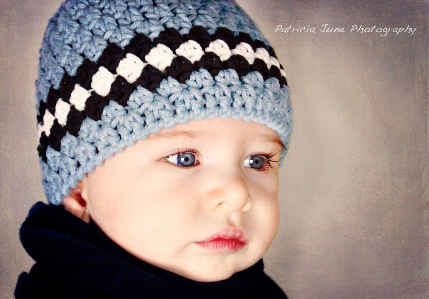 Baby Boy Set - Loafer Booties - Blue Beanie Striped Hat - Modern ...