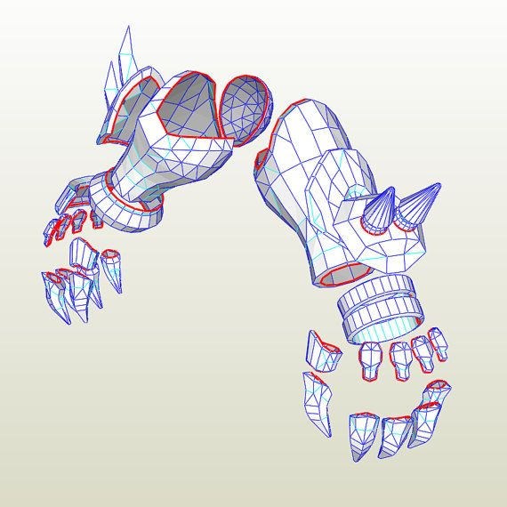 Overwatch Reaper Gauntlets with Claws PDO Pepakura File