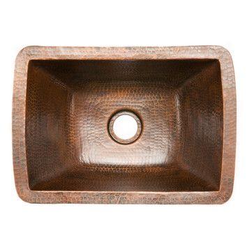 17 L X 12 W Undermount Kitchen Sink Copper Kitchen Sink Copper Bar Sink Tuscan Kitchen