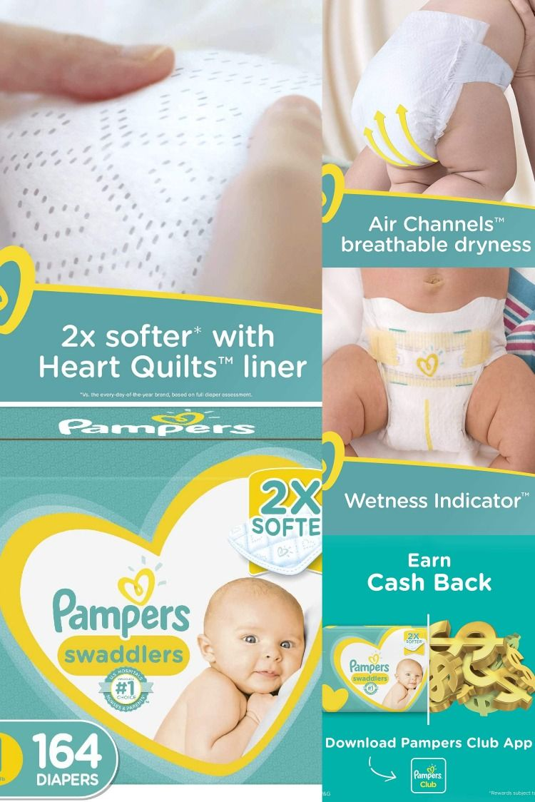 Diapers Newborn Size 1 8 14 Lb 164 Count Pampers Swaddlers Disposable Baby Diapers Enormous Pack In 2020 Pampers Diapers Newborn Diapers Swaddlers