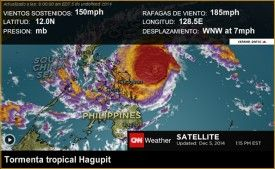 Supertifón Hagupit se acerca peligrosamente a Filipinas