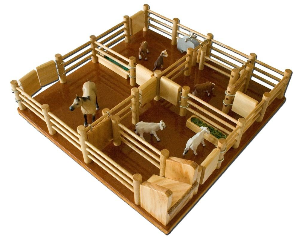cy4 - cattle yard no 4 - handmade wooden yard , $187.00