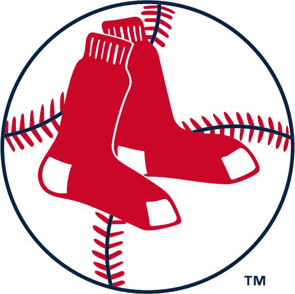 boston red sox primary logo 1961 two hanging red socks