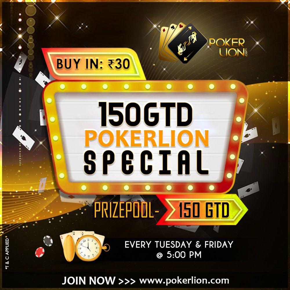 150 GTD POKERLION SPECIAL Online poker, Poker, Poker