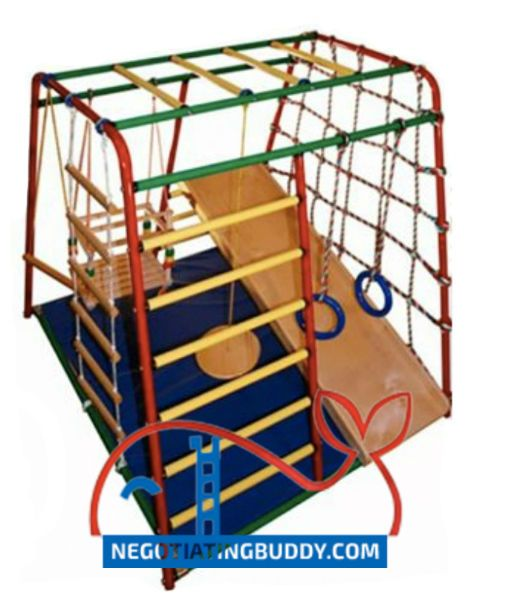 The Gym Includes Metal Frame Gymnastic Mat Baby Rope