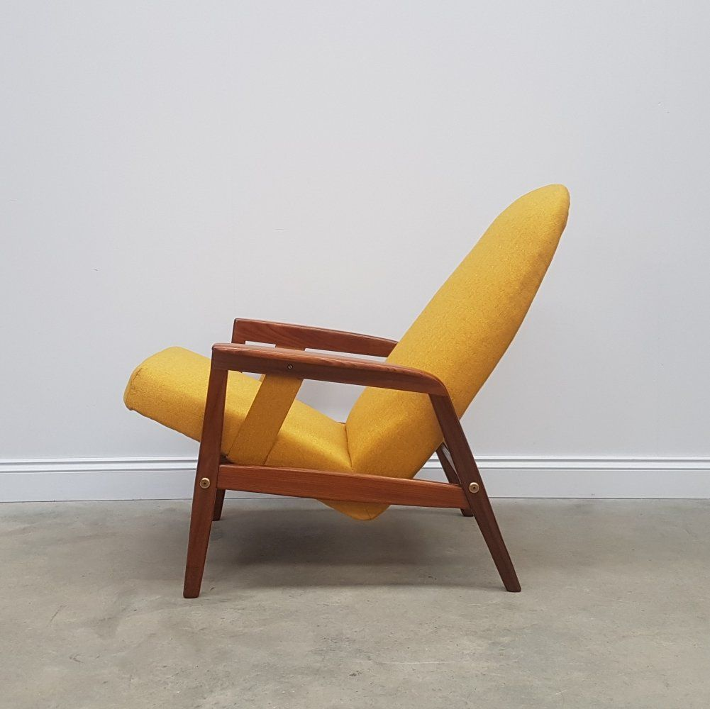 For Sale Yellow Mid Century Danish Recliner Armchair By Durup Denmark 1960s In 2020 Mid Century Chair Reclining Armchair Danish Furniture