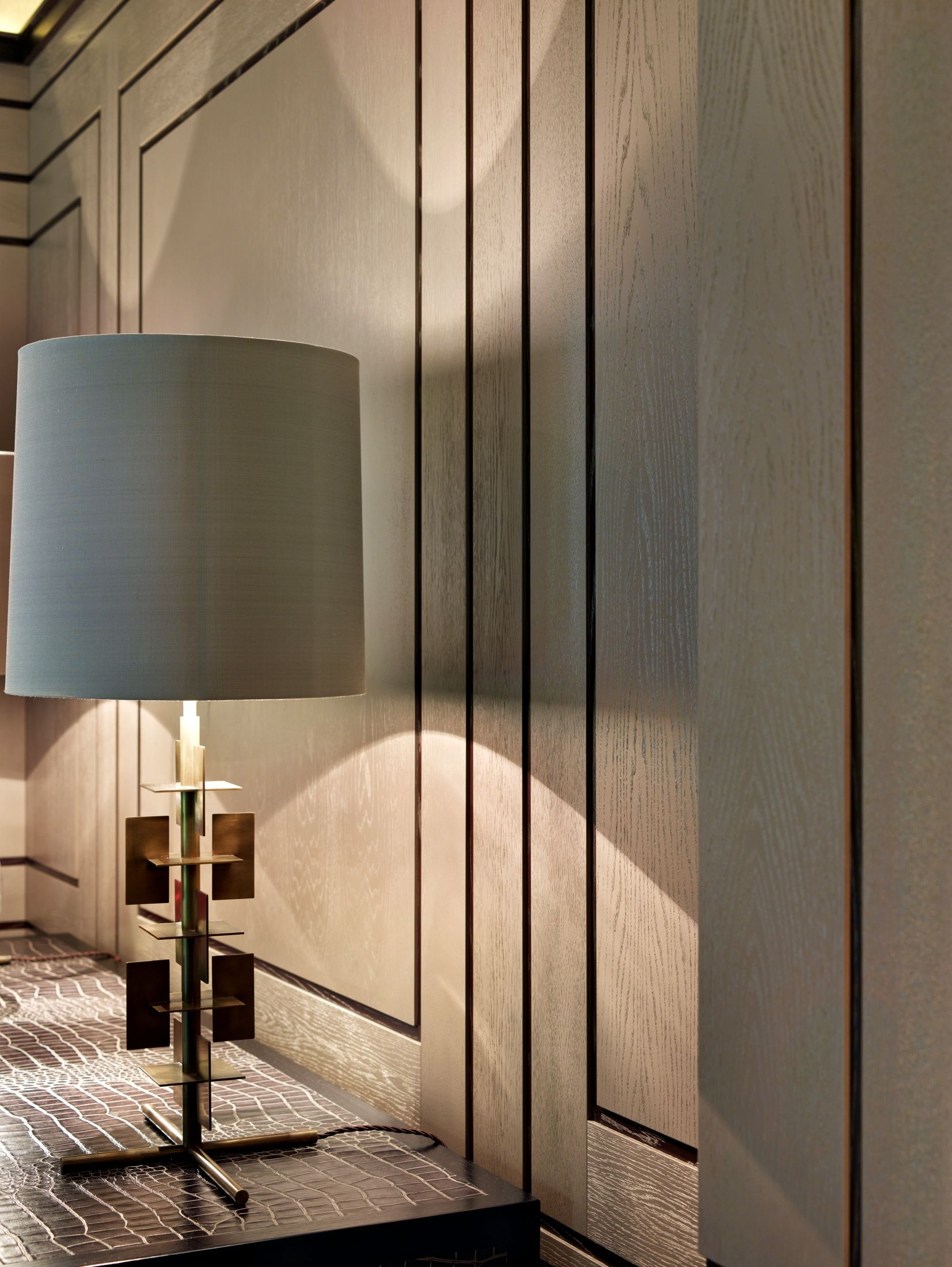 Wood Paneled Office: Panelling Detail - Stephen Clasper Interiors