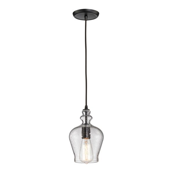 Elk Lighting Menlow Park 1 Light Oil Rubbed Bronze Mini Pendant