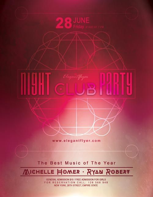 Night Club Party Free Flyer Template  HttpFreepsdflyerCom