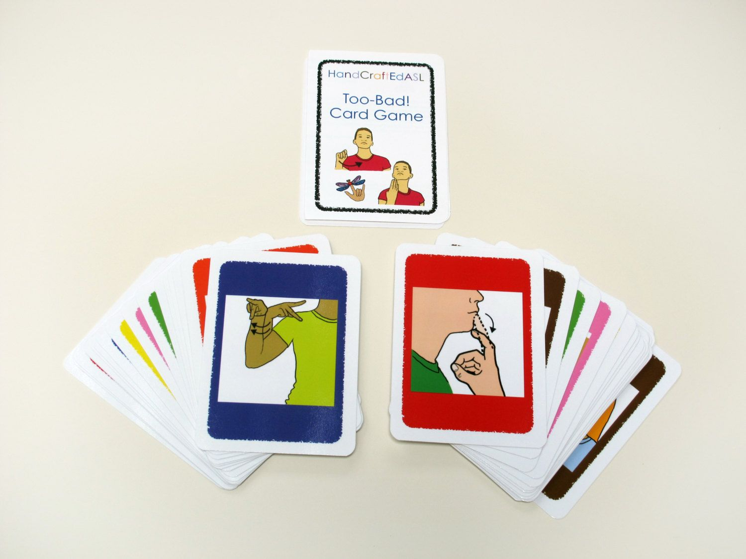 Too Bad Asl Game Cards Color Matching 10 00 Via Etsy