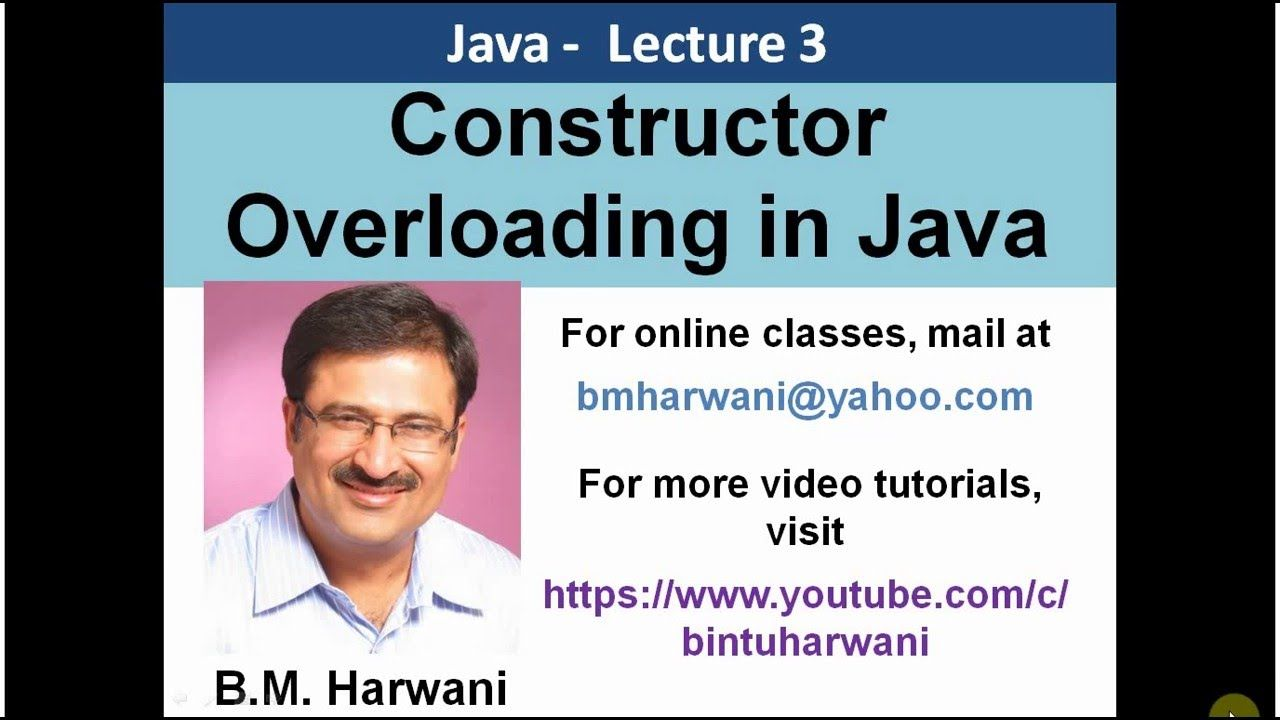 Explains constructor overloading in java the code is tested and video tutorial that explains constructor overloading in java the code is tested and run on netbeans ide the use of constructor overloading is explained baditri Image collections